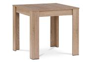 Jídelní stůl 80x80x74 cm, MDF, lamino 3D dekor dub sonoma