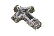 Obal proutěný s fólií a mechem, tvar kříže. Cena za 1ks.