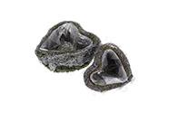 Obal ratanový s fólií a mechem, sada 2ks, cena za sadu, tvar srdce.