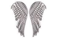Křídla andělská z kovu, v barvě stříbrné. Cena za pár.