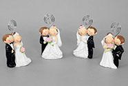 Nevěsta a ženich - stojánek na vizitky , dekorace z polyresinu