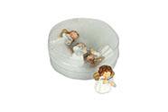 Andělíček, 4 kusy v krabičce, dekorace z polyresinu, cena 1 krabičku