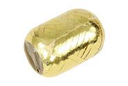 Stuha vázací metal 20m, barva zlatá