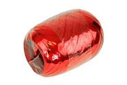 Stuha vázací metal 20m, barva červená