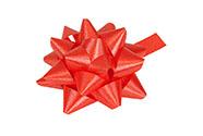 Rosetka samolepící střední, barva červená
