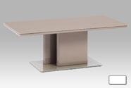 Konferenční stolek, vysoký lesk lanýž / tvrzené sklo