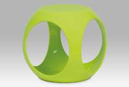 Taburet, plast zelený