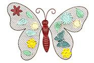 Nástěnná kovová dekorace - barevný motýl