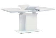 Jídelní stůl rozkládací 120+40x80 cm, vysoký lesk bílý