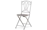 Zahradní židle, keramická mozaika, kovová konstrukce, šedý lak Antik (typově ke