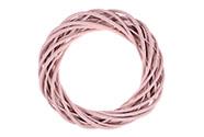 Proutěný věnec, barva staro-růžová