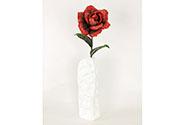 Růže, barva červená mramorovaná. Květina umělá pěnová.