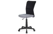 Kancelářská židle, šedá mesh, plastový kříž, síťovina černá