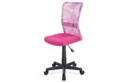 Kancelářská židle, růžová mesh, plastový kříž, síťovina motiv