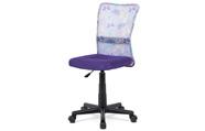 Kancelářská židle, fialová mesh, plastový kříž, síťovina motiv