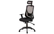 Kancelářská židle, synchronní mech., černá MESH, plast. kříž