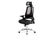 Kancelářská židle, černá MESH síťovina, lankový mech., kovový kříž