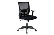 Kancelářská židle, látka černá, houpací mechanismus