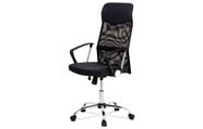 Kancelářská židle řady BASIC, potah černá látka a síťovina MESH, houpací mechani