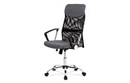 Kancelářská židle řady BASIC, potah šedá látka a černá síťovina MESH, houpací me