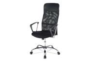 Kancelářská židle s podhlavníkem z ekokůže, potah černá látka  MESH a síťovina M