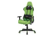 Kancelářská židle, zelená látka, houpací mech., plastový kříž