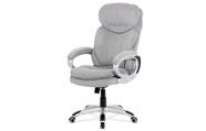 Kancelářská židle, šedá látka, kříž plast stříbrný, houpací mechanismus