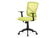 Kancelářská židle, zelená MESH+síťovina, plastový kříž, houpací mechanismus