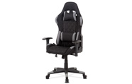 Kancelářská židle, šedá látka, houpací mech, kříž plast
