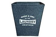 Koš prádelní z plsti, barva tmavě šedá