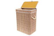 Koš prádelní z bambusu, obdélník, barva šedobílá