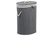 Koš prádelní z bambusu, ovál, barva šedá