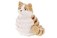 Kočka, keramická dekorace