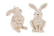 Zajíc, keramická dekorace, mix 2 druhů. Cena za 1ks.