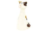 Kočička, keramická zahradní dekorace na plot nebo na postavení