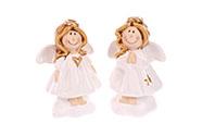 Andělíček, keramická dekorace na postavení, cena za 1 kus.