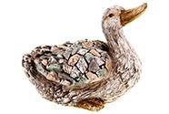 Kachna z magneziové keramiky, zahradní dekorace.