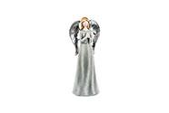 Anděl, šedivá barva, magneziová keramika dekorační
