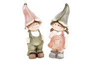 Zvonečkové děti, keramická dekorace. Mix 2 druhů.  Cena za 1ks.