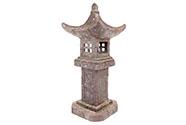 Pagoda se solárním LED světlem (baterie na solární dobíjení), zahradní magneziov
