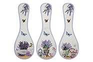Podložka kuchyňská z keramiky a korku, mix  3 dekorů, cena za 1 kus