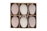 Vajíčka plastové v krabičce. 6ks/krabička.