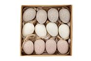 Vajíčka plastová v krabičce. 12ks/krabička