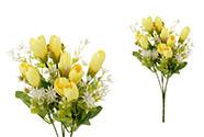 Krokusy, puget, barva žlutá. Květina umělá.