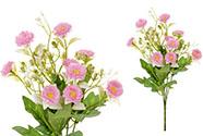 Sedmikrásky, puget, barva růžová. Květina umělá.