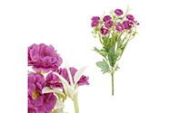 Sedmikrásky, puget,  barva fialová. Květina umělá.