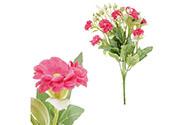 Sedmikrásky, puget, barva červená. Květina umělá.