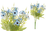 Kopretiny, puget, barva modrá. Květina umělá.