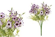 Kopretiny, puget, barva fialová. Květina umělá.