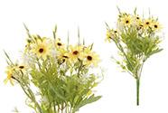 Kopretiny, puget, barva žlutá. Květina umělá.